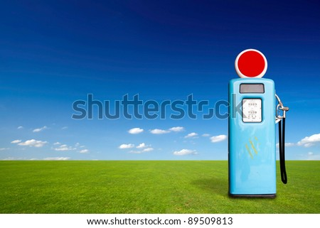Retro gas pump - stock photo