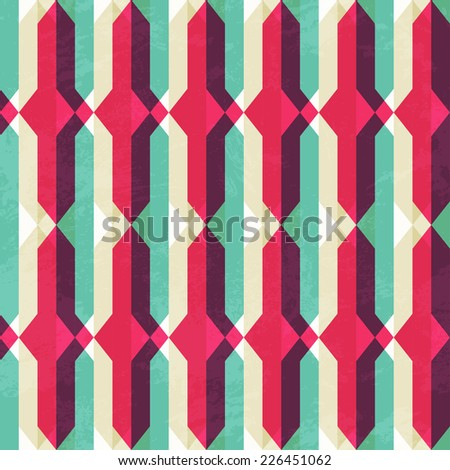 retro geometric seamless texture (raster version) - stock photo