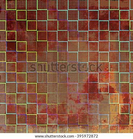 Retro grunge vintage background or weathered antique texture with different color patterns: blue; green; yellow (beige); brown; purple (violet); red (orange)