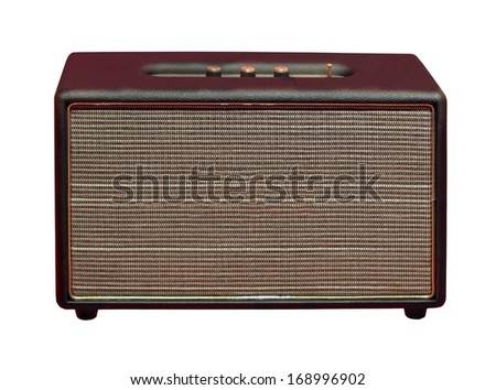 Retro guitar amplifier isolated with clipping path included - stock photo