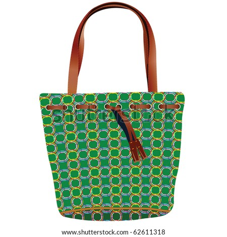 retro hand bag against white background, abstract art illustration; for vector format please visit my gallery