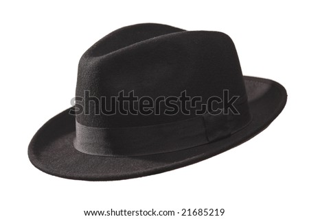 Retro hat isolated against white background - stock photo