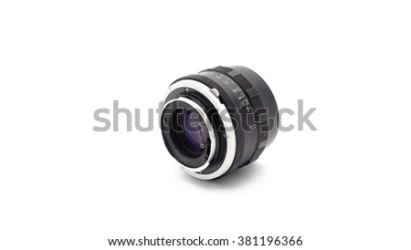 Retro Lens on white background