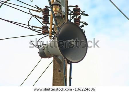 Retro loudspeaker background - stock photo