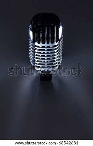 Retro Mic background with the space for text - stock photo
