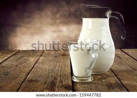 retro milk  - stock photo