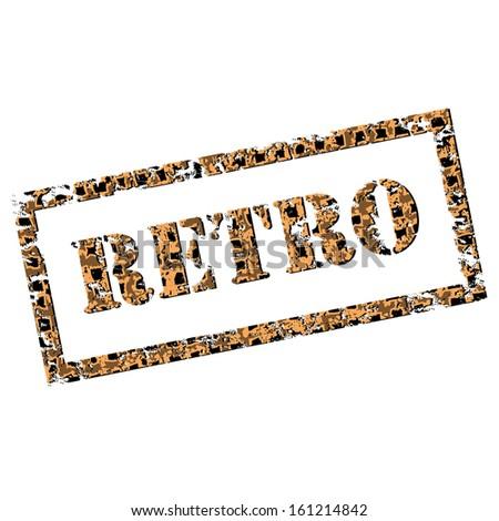 Retro motel sign. Grunge text.  - stock photo
