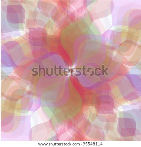Retro multicolored pastel flowers background - stock photo