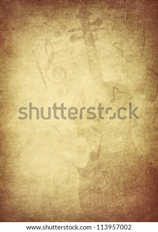 retro music concept background - stock photo