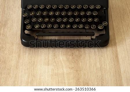 Retro old typewriter - stock photo