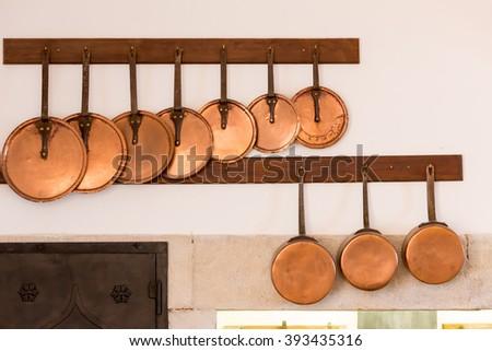 Retro pans - stock photo