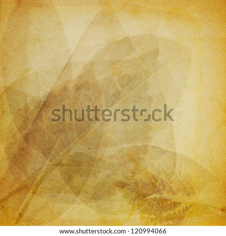 Retro Paper With Leaf Pattern - stock photo