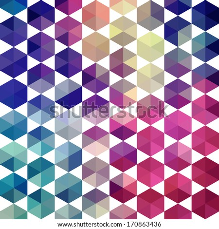 Colorful Seamless Pattern 3d Cubes Vector Stock Vector 111855878