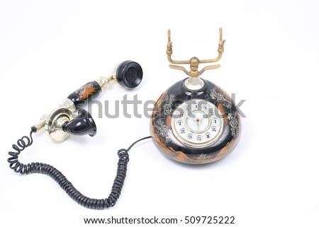 Retro Phone,Vintage Telephone isolated on White Background