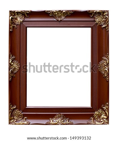 Retro photo frame - stock photo