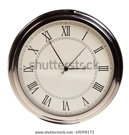 Retro pocket watch isolated over white background. - stock photo