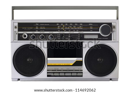 Retro radio from the 80s - stock photo