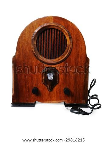 retro radio receiver (isolated) - stock photo