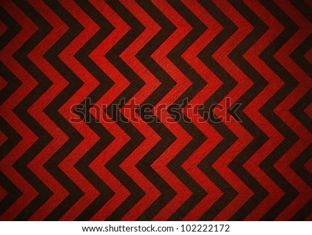 Retro Red Background Of Black Chevron Stripes Has Patterned Wallpaper And Vintage Grunge