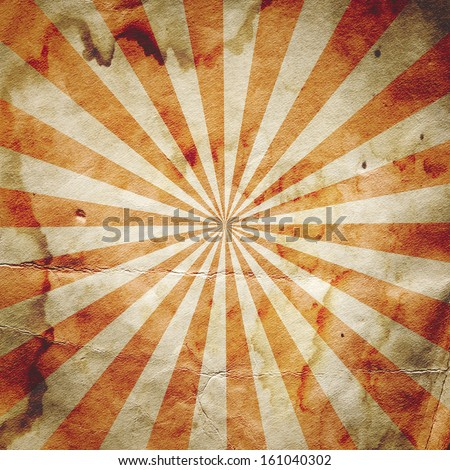 Retro revival sunbeam poster background in red - stock photo