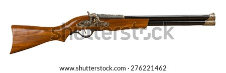 retro rifle isolated on the white background - stock photo