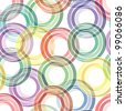 Retro seamless background with multicolor vivid rings - stock vector