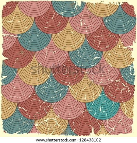 Retro seamless pattern on vintage old paper.