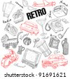 Retro set illustration - stock vector