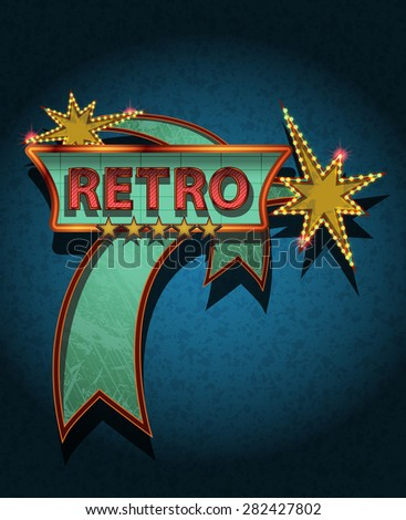 retro sign board - stock photo