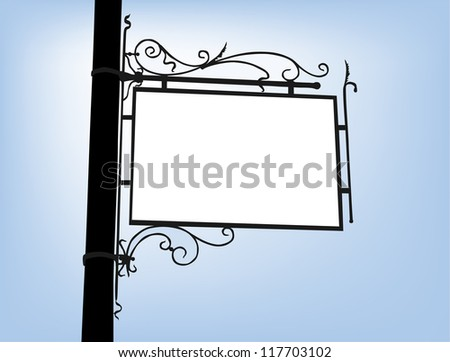 retro signboard with space for your message