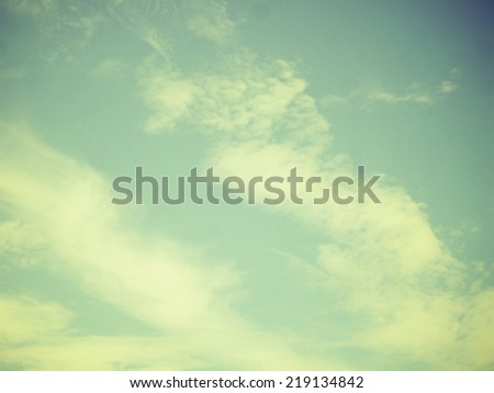 Retro sky. Sky and clouds and vintage style. - stock photo