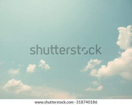 retro sky with cloud background