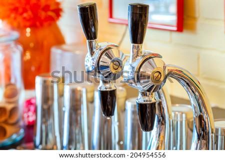 Retro soda fountain - stock photo