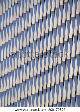 Retro Steel Facade of a Building - stock photo