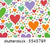 retro stripes candy hearts (raster) - stock vector