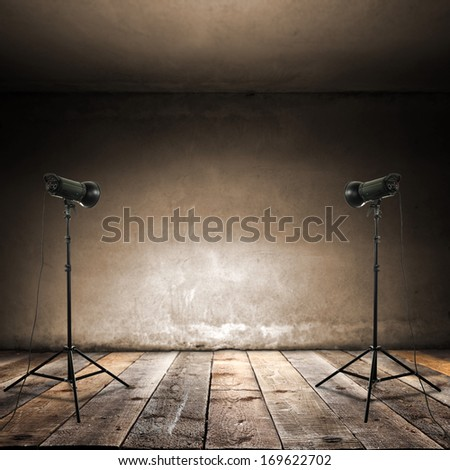 retro studio  - stock photo