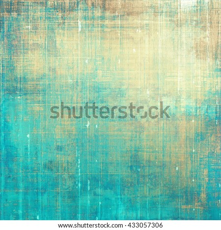 Retro style abstract background, aged graphic texture with different color patterns: yellow (beige); brown; blue; gray; cyan - stock photo