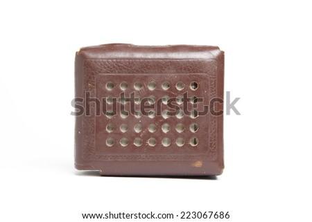 Retro style mini radio player - stock photo