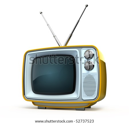 Retro style TV - stock photo