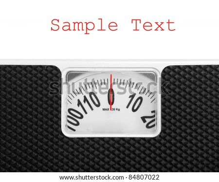 Retro style weighing machine with space for your text. - stock photo