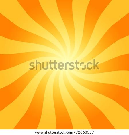 retro sunburst - stock photo