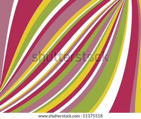 Retro swoopy stripes design