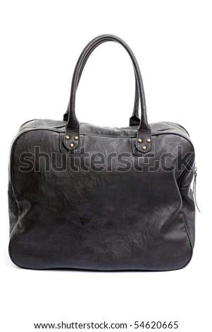Retro Sytle Woman Handbag on isolated white background - stock photo