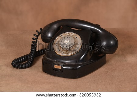 Retro telephone - stock photo