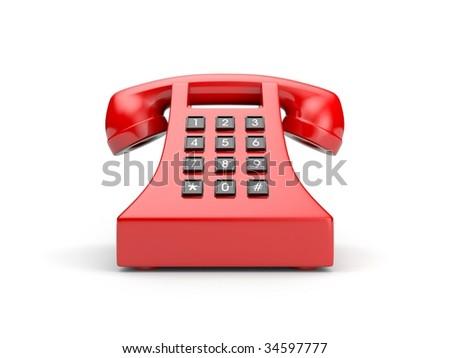 Retro telephone. More colors in my portfolio - stock photo