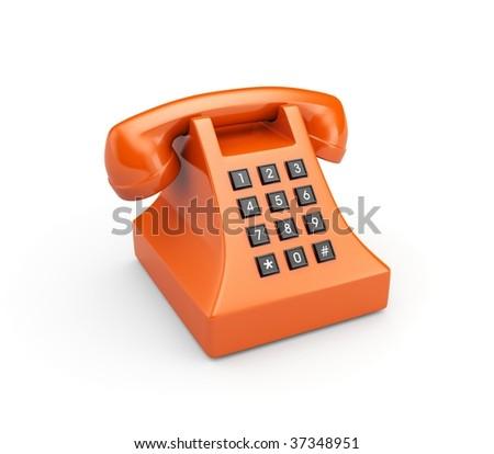 Retro telephone, more phones in my gallery - stock photo