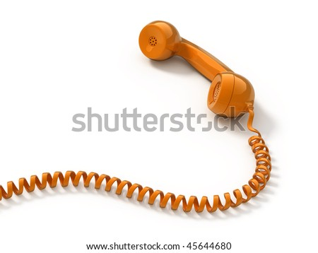 Retro telephone tube isolated on white - stock photo