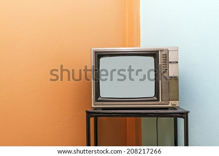 Retro television  - stock photo