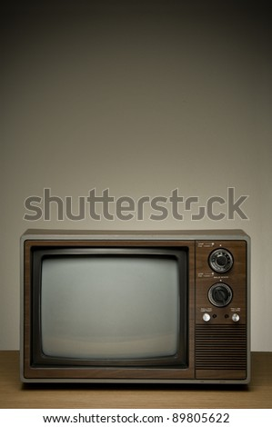 Retro television with a clipping path. - stock photo