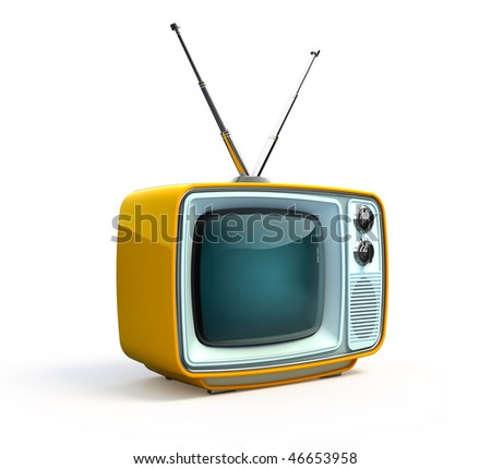 Retro TV - stock photo